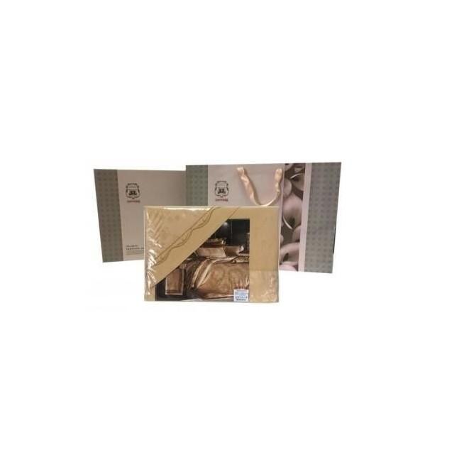 Белье постельное жаккард с вышивкой H031 2 спальное СИТРЕЙД