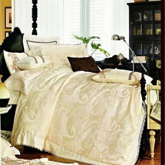 Постельное белье жаккард с вышивкой H026 2 спальное СИТРЕЙД