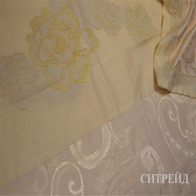 Подарочный жаккард с вышивкой белье постельное H026 2 спальное СИТРЕЙД