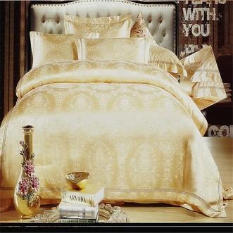Постельное белье жаккард с вышивкой H027 2 спальное СИТРЕЙД