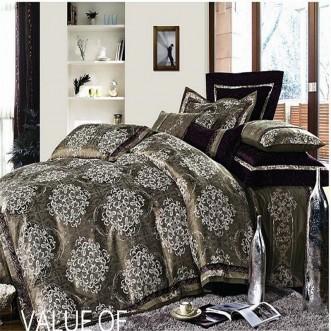 Постельное белье жаккард с вышивкой H023 2 спальное СИТРЕЙД