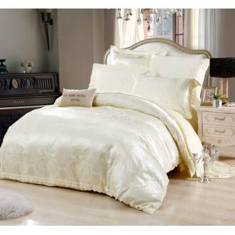 Постельное белье жаккард с вышивкой H042 2 спальное СИТРЕЙД