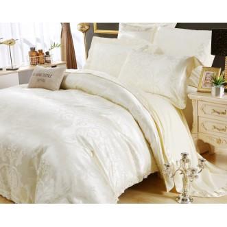 Подарочный жаккард с вышивкой белье постельное H042 2 спальное СИТРЕЙД