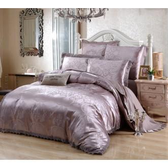 Постельное белье жаккард с вышивкой H043 2 спальное СИТРЕЙД