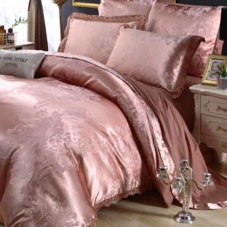 Белье постельное жаккард с вышивкой H049 2 спальное СИТРЕЙД