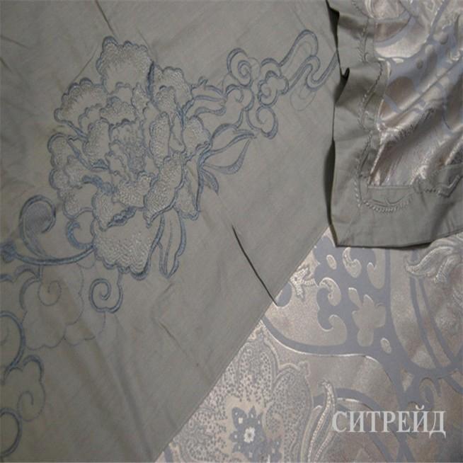 Белье постельное жаккард с вышивкой H019 Евро СИТРЕЙД