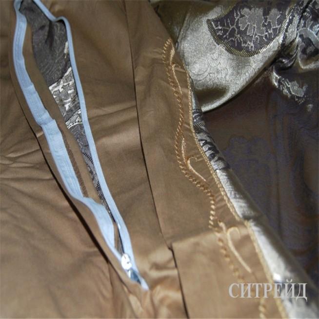 Белье постельное жаккард с вышивкой H020 Евро СИТРЕЙД