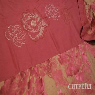 Подарочный жаккард с вышивкой белье постельное H022 Евро СИТРЕЙД