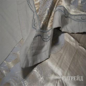 Белье постельное жаккард с вышивкой H029 Евро СИТРЕЙД