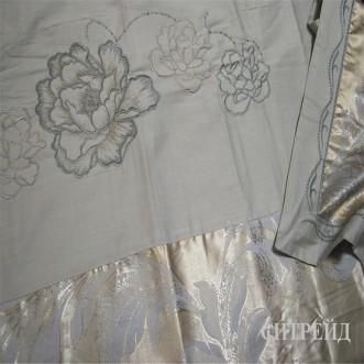 Подарочный жаккард с вышивкой белье постельное H029 Евро СИТРЕЙД