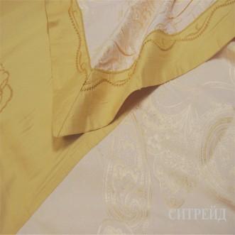 Белье постельное жаккард с вышивкой H030 Евро СИТРЕЙД