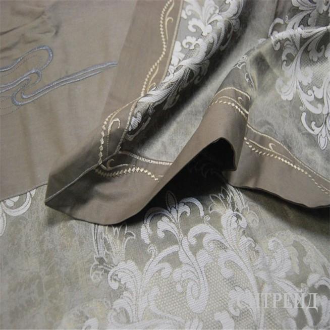 Белье постельное жаккард с вышивкой H023 Евро СИТРЕЙД
