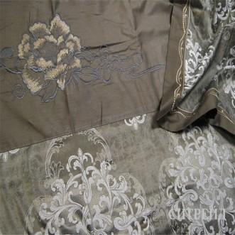 Подарочный жаккард с вышивкой белье постельное H023 Евро СИТРЕЙД