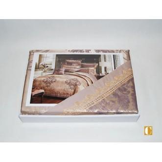 Белье постельное жаккард с вышивкой H034 Евро СИТРЕЙД