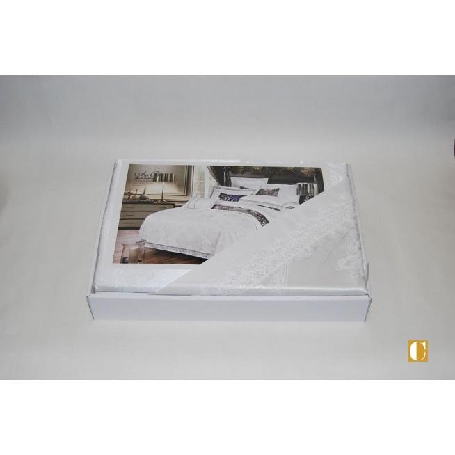 Белье постельное жаккард с вышивкой H037 Евро СИТРЕЙД