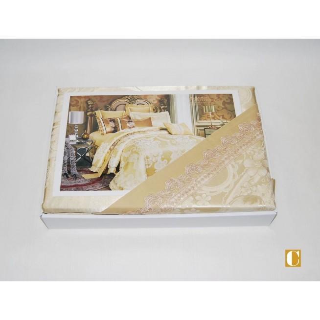 Белье постельное жаккард с вышивкой H039 Евро СИТРЕЙД