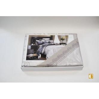 Белье постельное жаккард с вышивкой H040 Евро СИТРЕЙД