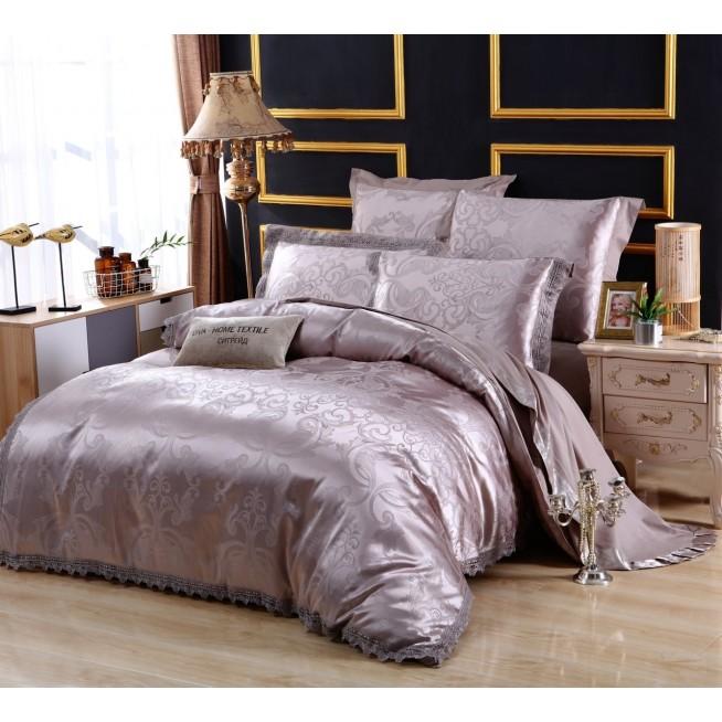 Белье постельное жаккард с вышивкой H043 Евро СИТРЕЙД