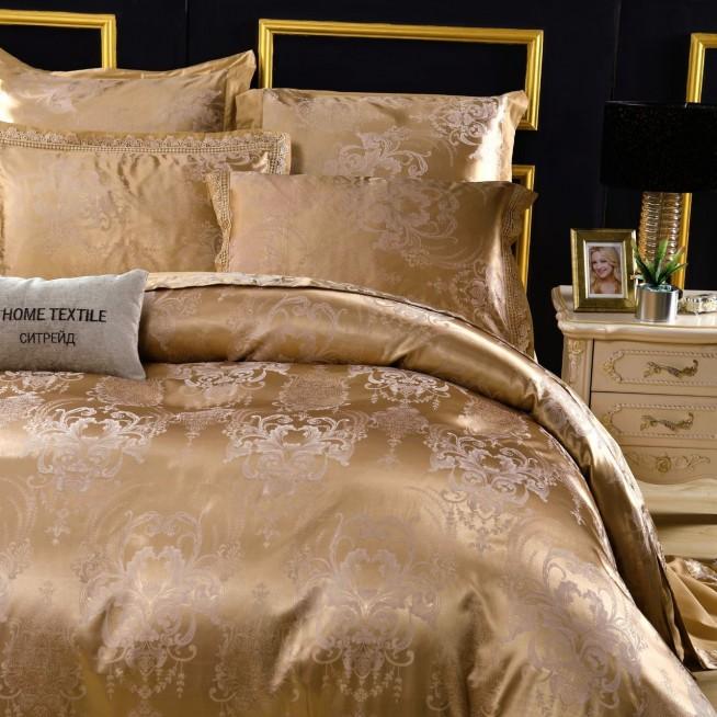 Подарочный жаккард с вышивкой белье постельное H047 Евро СИТРЕЙД