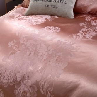 Подарочный жаккард с вышивкой белье постельное H049 Евро СИТРЕЙД